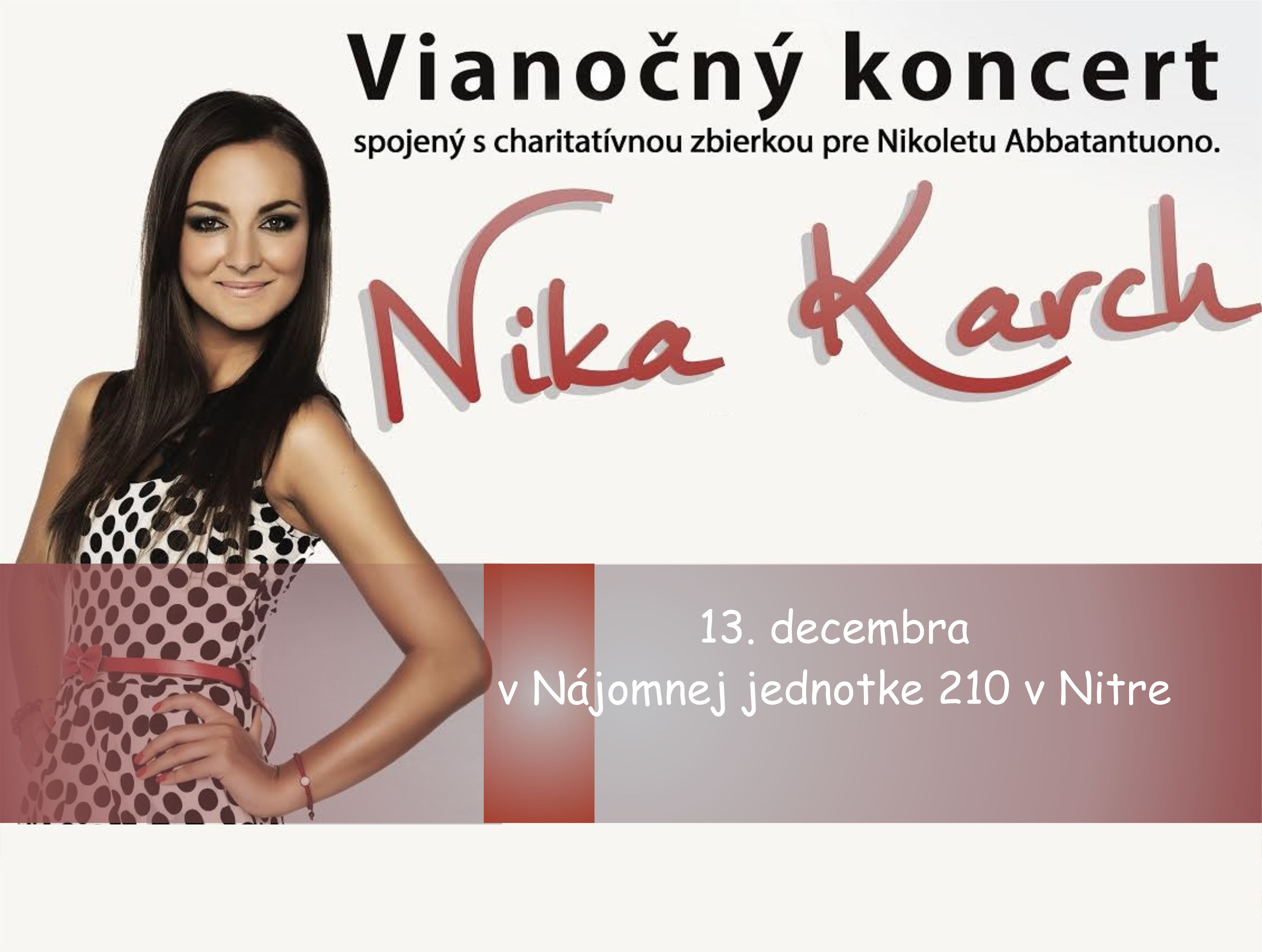 Vianočný koncert Nika Karch a hostia  Mário - Kam v meste  3f188367ec8